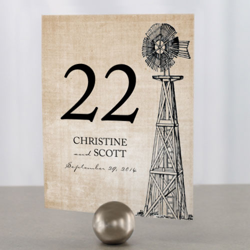 Ask your venue what kind of Table Number holders they have