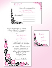 black pink invitation