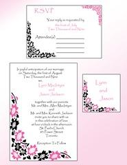 black pink invitation