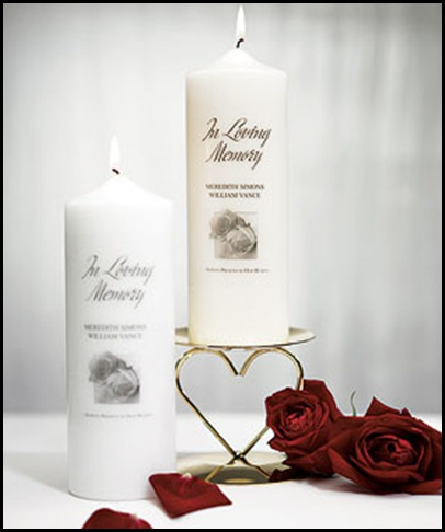 personalized memorial pillar candle