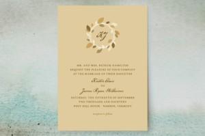 autumn wreath invitation