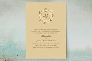 autumn wreath invitation