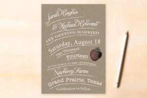 rustic type invitation