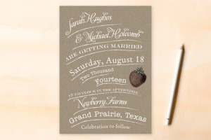 rustic type invitation