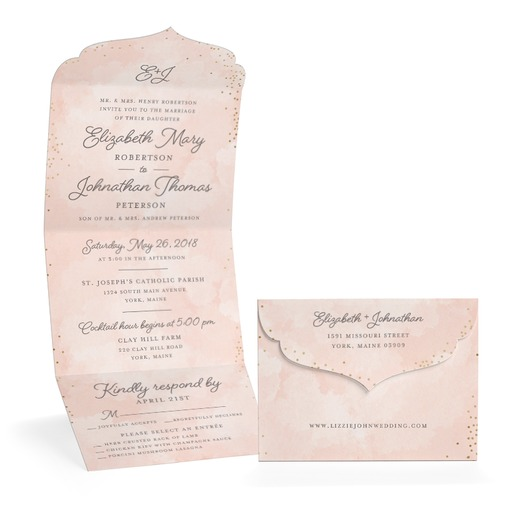 forever confetti wedding invitation