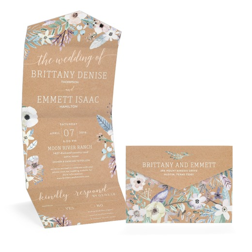 Sincere Florals Wedding Invitation